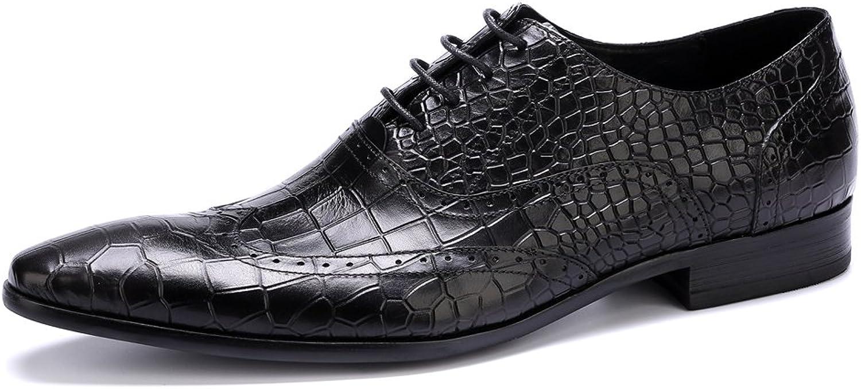 MEbox MEbox MEbox herr Genuine läder embossed Stone Dress Oxfords skor  billig och högsta kvalitet