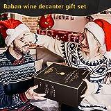 Decanter,Baban Wein Dekanter, 1L Rotwein Bleifreies Glasdekanter, Dekantiergefäß Glasbelüftungsweinkaraffe, Perfektes Geschenkset Dekantierer für Weihnachten Weinliebhaber - 7