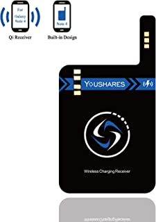 Note 4 Qi Wireless Charging Receiver, YOUSHARES Built-in Module Card for Samsung Galaxy Note 4 to Universal Wireless Charged Anywhere by Wireless Charger