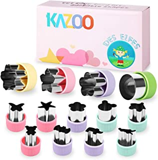 KAZOO Kids Food Shapes Cookie Cutter Kids Sandwich Cookie Cutters Shapes Mini Vegetable Fruit Cutter Shapes Set for Bento Box,13pcs Stainless Steel
