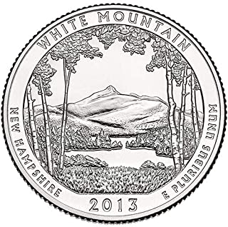 2013 S Clad Proof White Mountain New Hampshire National Forest NP Quarter Choice Uncirculated US Mint