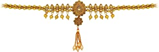 Fresh Vibes Golden Chain Traditional Indian Kamarbandh for Ladies - Fancy Wedding Party Wear Heavy Look Adjustable Kamar B...