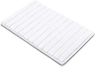 Microdry 10803 Memory Foam Softlux Skid-Resistant Bath Mat, 17 x 24 in, White