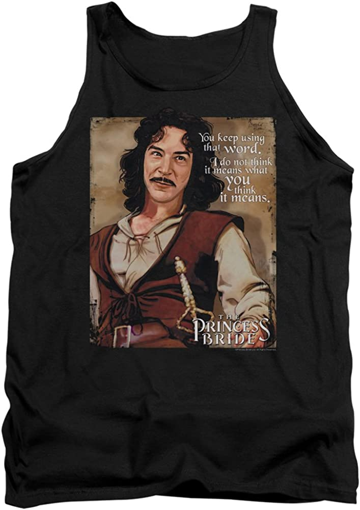 Princess Bride Word Officially Licensed Adult Tank Top Black