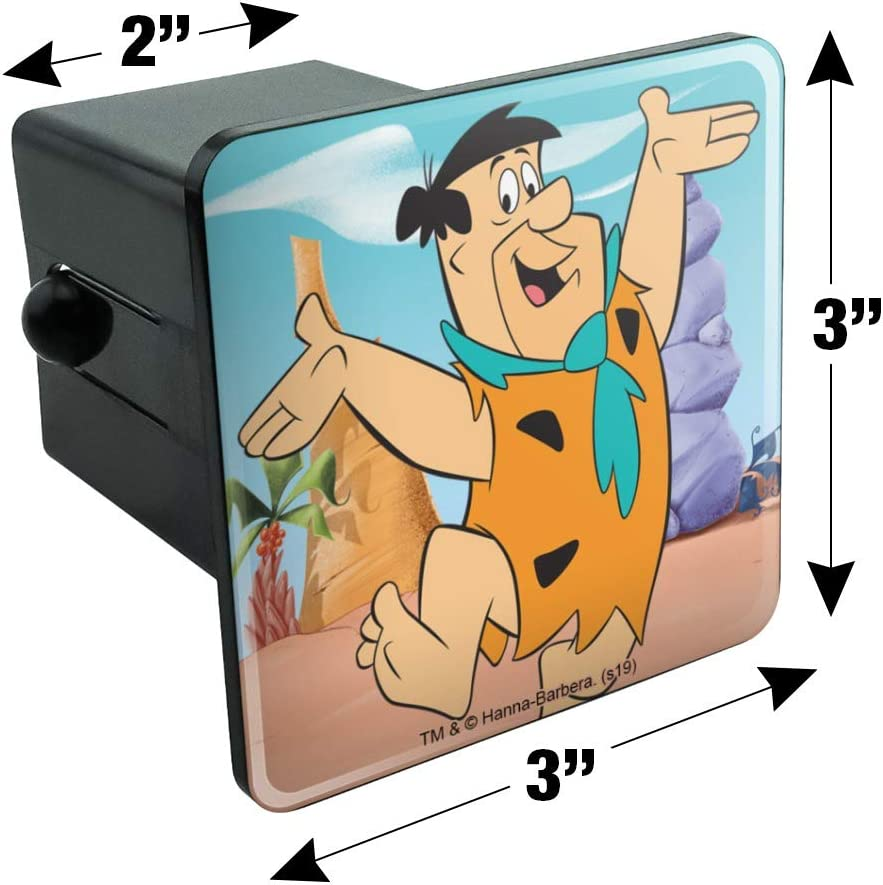 Graphics and More The Flintstones Fred Character Tow Trailer Hitch Cover Plug Insert