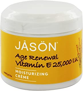 Jason Moisturizing Vitamin E Age Renewal Creme 4 oz (Pack of 3)