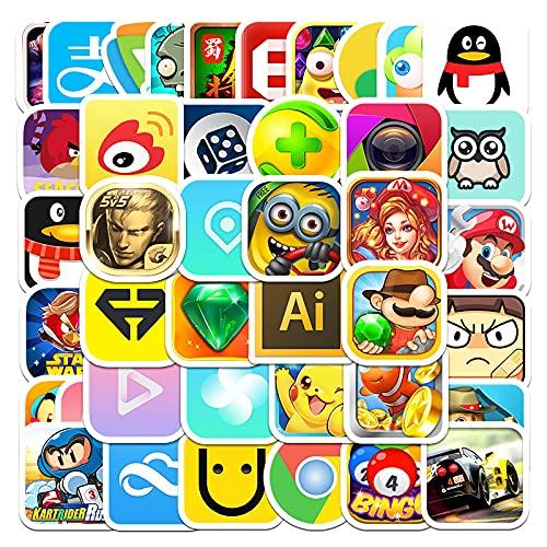 JZLMF 54 Pegatinas de Grafiti de Dibujos Animados, Scooter para Ordenador, Equipaje, Carro, Maleta, Grafiti, Pegatinas Impermeables para niños y niñas