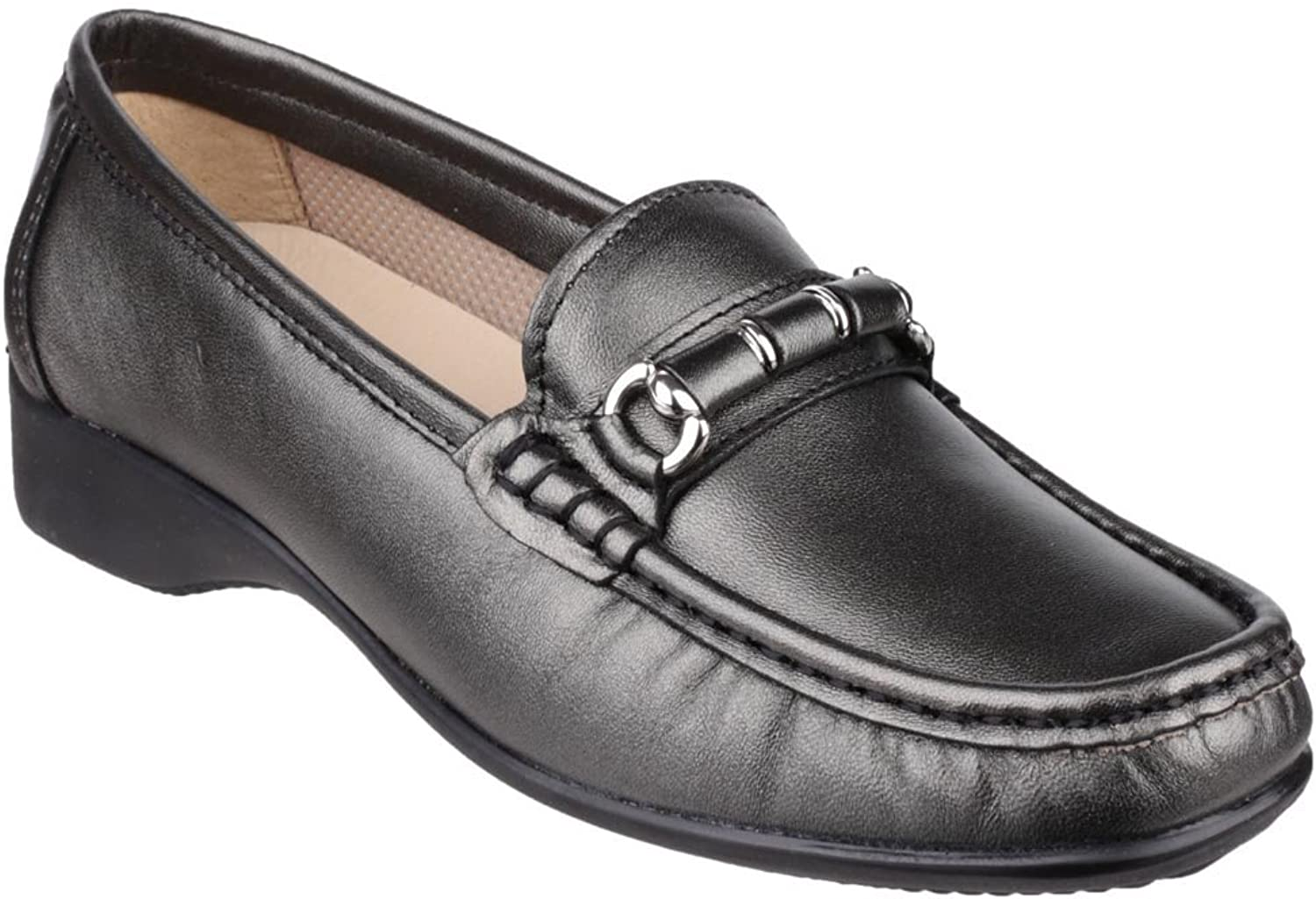 Cotswold Womens Barrington Slip on Loafer shoes Pewter Size UK 8 EU 42