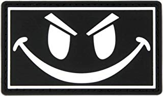 The Original Glow in The Dark Smiley Face PVC Rubber Morale Patch - Crossfit Patch by NEO Tactical Gear Morale Patch