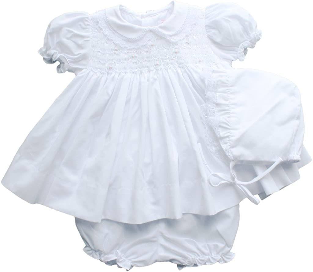 Petit Ami Baby Max 57% free shipping OFF Girls' Fully Smocked Lace Dress Trim with