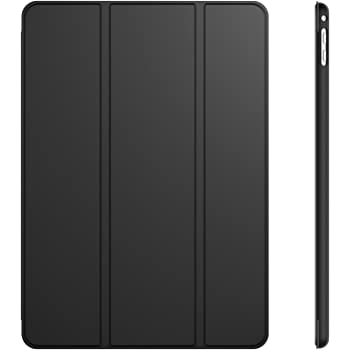 JEDirect iPad Air 2 ケース 三つ折スタンド オートスリープ機能 (ブラック)