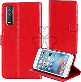 TienJueShi Red Book Stand Retro Flip Leather Protector Phone TPU Silicone Case For Vivo Y70t 6.53 inch Gel Cover Etui Wallet