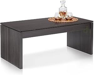 13Casa - Delfi B1 - Tavolino. Dim: 102x50x43 h cm. Col: Grigio. Mat: Melamina.