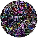 Ausikou Paquete de Pegatinas, Impermeable Neon Pegatinas Moto Graffiti Stickers Vintage para Laptop, Coche, Casco Bicicleta, Maleta, Vinilos para Portátiles