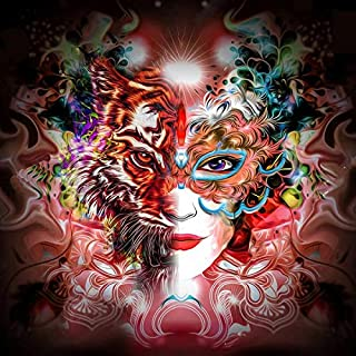 TINMI ARTS 5D Diamond Painting Kits for Adults Full Round DIY Mosaic Cross Stitch Pattern Embroidery Picture Kits Wall Décor (Sexy Tiger face, 16