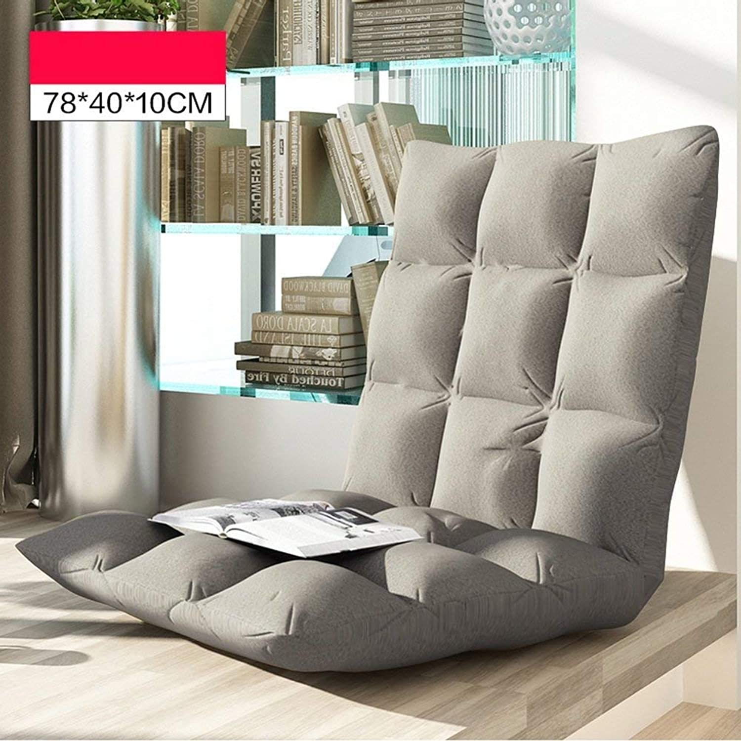 Lazy Sofa Cushion Folding Chair Bed Chair Bay Window Chair Lazy Couch (color  C, Size  78  40  10cm)