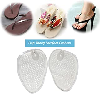 (2 Pairs)Gel Cushions For Flip Flop Sandals,Forefoot Padding Relief Pain Rub,Self Adhesive,No slip