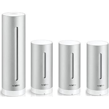 Netatmo - Set stazione meteo urbana, set risparmio, professionale, con sensori della qualità dell'aria, per iPhone Apple e Android