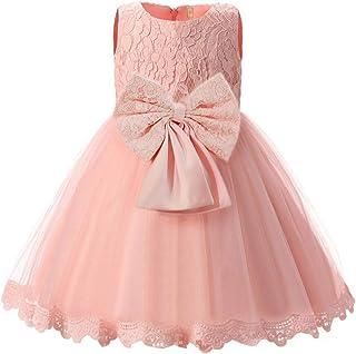 718e909c7 Happy cherry - Vestido de Boda Bebé Niña Elegante Corto sin Mangas de  Estilo Dulce con