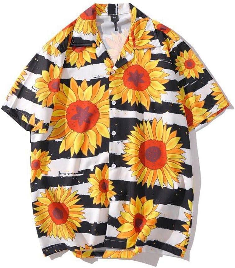FANGDADAN Casual Hawaiian Ranking TOP12 Shirt for - Sunflower Little Kansas City Mall Daisy Men
