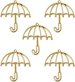 BMBN 5 Stks Gouden Paraplu Hars Frame Open Bezels Instelling Blank Hanger Sieraden Maken Open Bezel Charm.