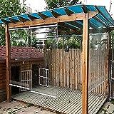 FUFU Bambus-Rollo Outdoor-Türfenster Clear Rollon, wasserdichte transparente Rollschütze für den Außenbereich, Pavillon Pergola Clear Roll-Up-Jalousien/Bildschirm, 60/80/100