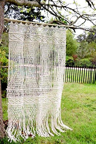 Labhanshi Macrame Wall Hanging Tapestry- Macrame Door Hanging,Room Divider,Macrame Curtains,Window Curtain, Door Curtains, Wedding Backdrop Arch Boho Wall Decor