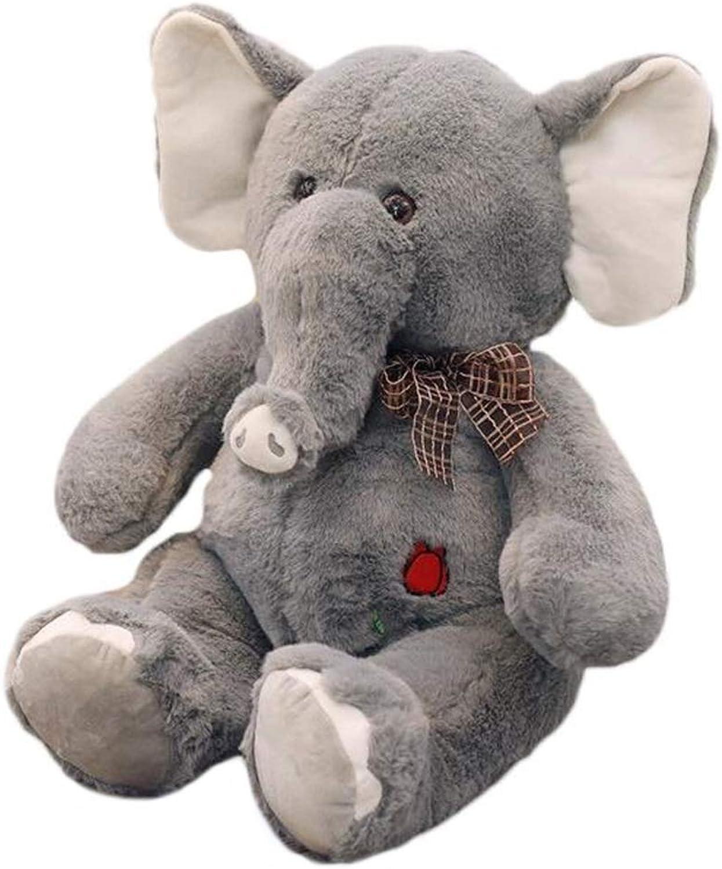 ventas en linea ACZZ Peluches Elefante Elefante Elefante Elefante Peluche Juguete Grande Nariz Larga Peluche Juguete Niños 'S Habitación Elefante Almohada,gris,75cm  para proporcionarle una compra en línea agradable