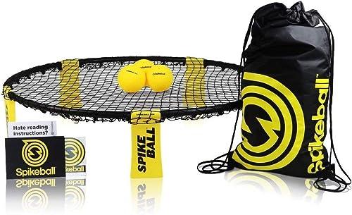 Set de Spikeball - Pour jouer en plein air, à l'intérieur, sur l'herbe ou sur le sable - inclut une balle, un sac à c...