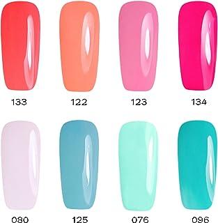 Gellen Soak Off UV/LED Gel Nail Polish 8 Colors Set - Nail Art Home Salon Beauty Gift Starter Kit, 8ml Each #3