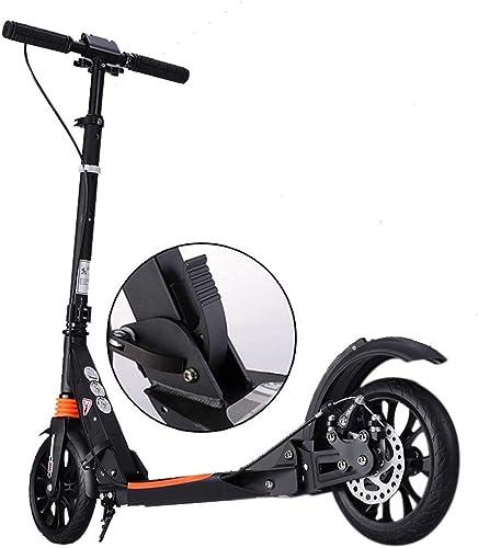 SCOOTERYW Unisex-Handbremse für Erwachsene für füroller, faltbarer Pendler-Roller, doppelt gefedert, Tragkraft 150 kg, nicht elektrisch
