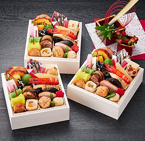 京都 しょうざん おせち料理 2022 吉春 個食 三段重 26品 盛り付け済み 冷凍おせち 3人前 一人前×三段 お届け日:12月30日