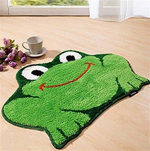 frog shaped rug for bathroom