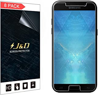 J&D Compatible for 8-Pack Galaxy A5 2017 Screen Protector, [Not Full Coverage] Premium HD Clear Film Shield Screen Protector for Samsung Galaxy A5 (Release in 2017) Crystal Clear Screen Protector
