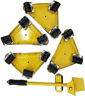 らくらくヘルパーセット 軽がるキャリー 台車スマートセット 家電の家具移動 重量物 移動用 (イエロー)