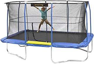 JumpKing JKRC1014C319 10 x 14 Foot Enclosed Rectangular Trampoline with G3 Pole