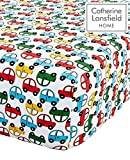 Catherine Lansfield Transport Easy Care Toddler Fitted Sheet Bright