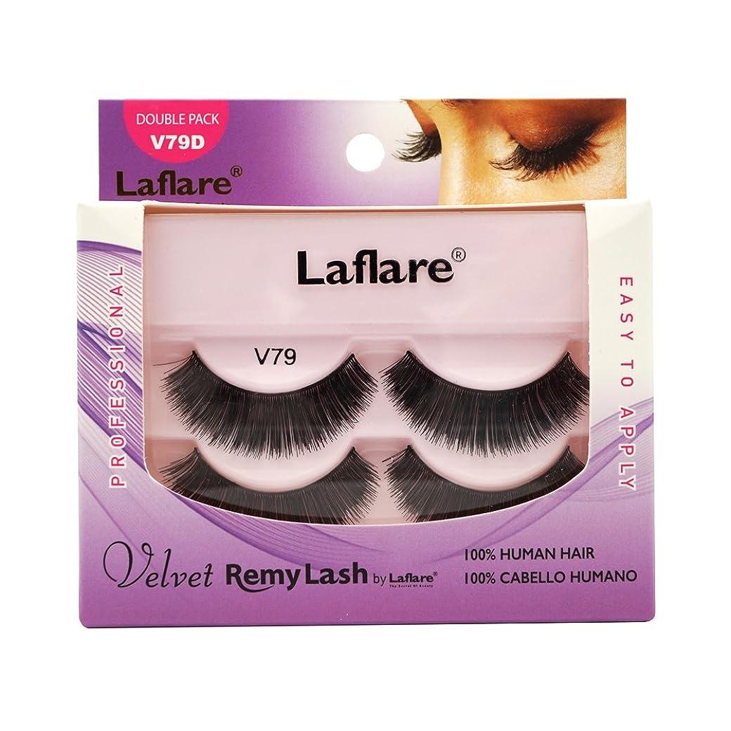 ピカソ主張敵意(3 Pack) LAFLARE Velvet Remy Lash Double Pack - V79D (並行輸入品)