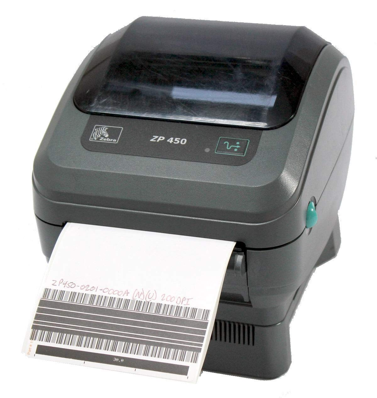 Zebra ZP 450 ZP450-0201-0000A Direct Thermal Barcode Label Printer Network USB Peeler 203dpi (Renewed)