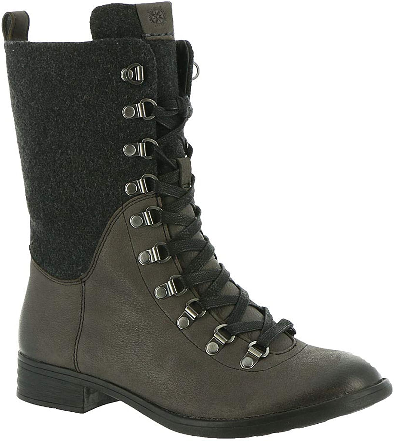Bussola Women Trapani Combat Boots, Tova Mid High Boots, Lace-up Boots