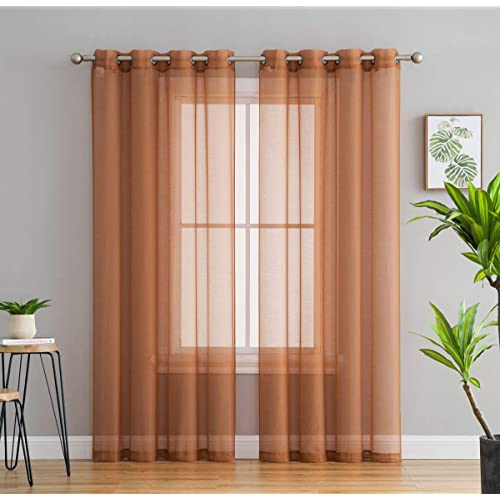 Rust Color Living Room Curtains: Amazon.com