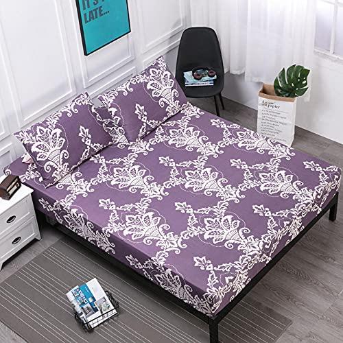 XGguo Protector de colchón de Rizo algodón y Transpirable Barrera de orina con impresión de sábana impermeable-13_160cmX200cm