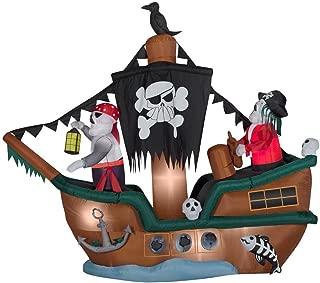 Gemmy 61509 Skeleton Pirate Ship Animated Airblown