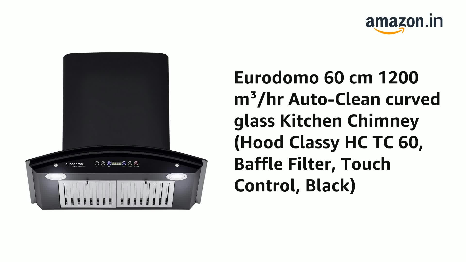 Eurodomo-60-cm-1200-mhr-Auto-Clean-curved-glass-Kitchen-Chimney-Hood-Classy-HC-TC-60-Baffle-Filter-Touch-Control-Black