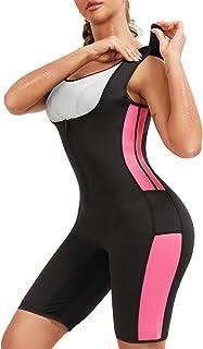 لباس زنانه نئوپرن مدل لباس کامل بدن عرق سونا کت و شلوار وزن بدن کمر بدن ساز بدن کمربند با بندهای قابل تنظیم