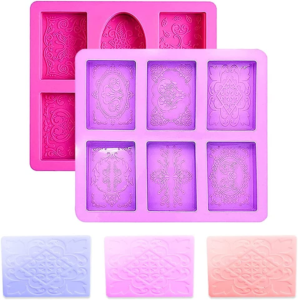 Soap Mold Popularity Cluo 2PCS 6 Philadelphia Mall Mould Silicone Cavity Moonc DIY