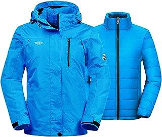 Women's 3-in-1 Waterproof Ski Jacket Interchange Windproof Puffer Liner Warm Winter..