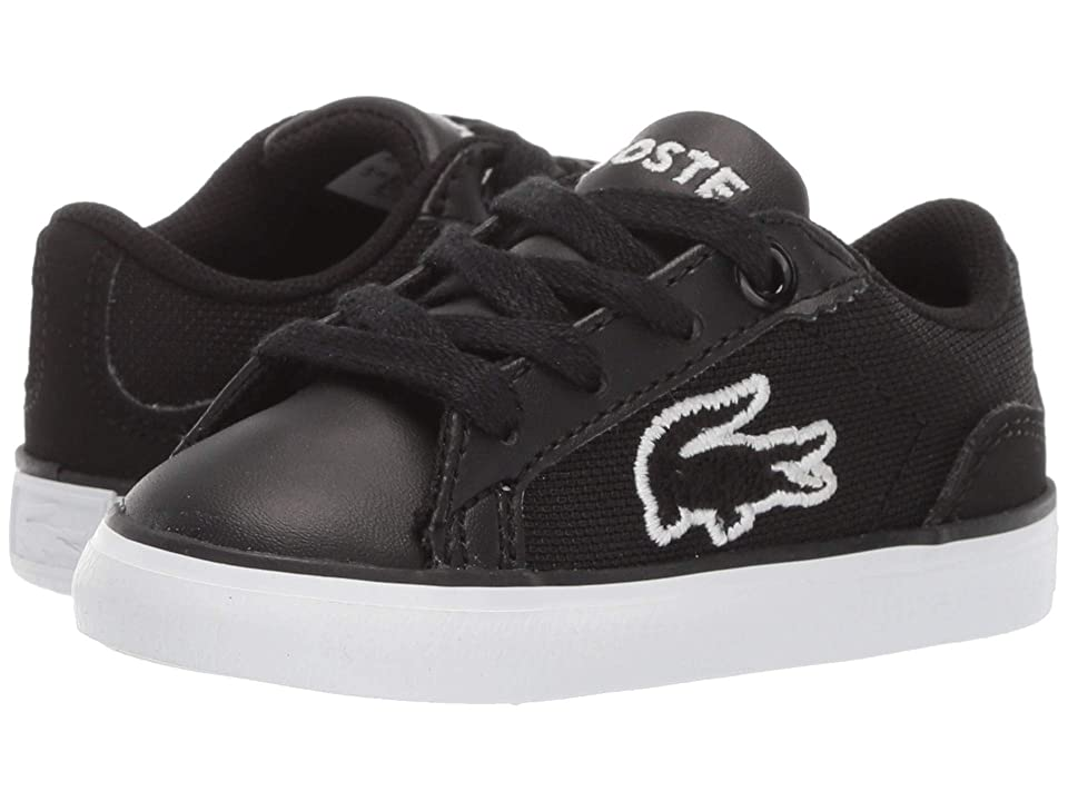 Lacoste Kids Lerond 219 1 CUI (Toddler/Little Kid) (Black/White) Kid