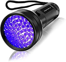 UV Flashlight Black Light, Vansky 51 LED Ultraviolet Blacklight Pet Urine Detector For Dog/Cat Urine,Dry Stains,Bed Bug, M...