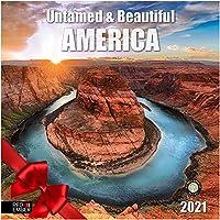 Red Ember Press Untamed & Beautiful America - 2021 壁掛けカレンダー - 開いた時 12インチ x 24インチ - 厚くて丈夫な紙 - America the Beautiful